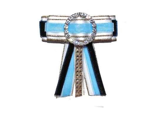 Navy, light blue, white bow