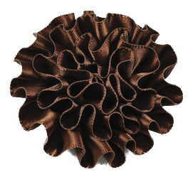Brown Cabbage Lapel