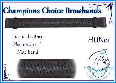 """Hunter Browbands 1.25""""wide"""